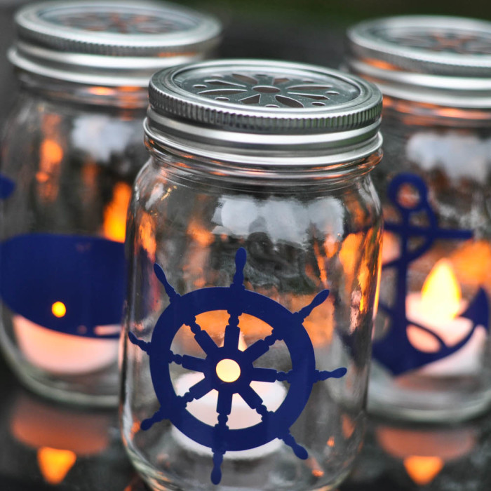 Nautical Mason Jar Lanterns  |  Suburble