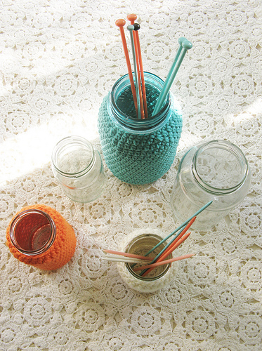 Mason Jar Cozy  |  Dottie Angel