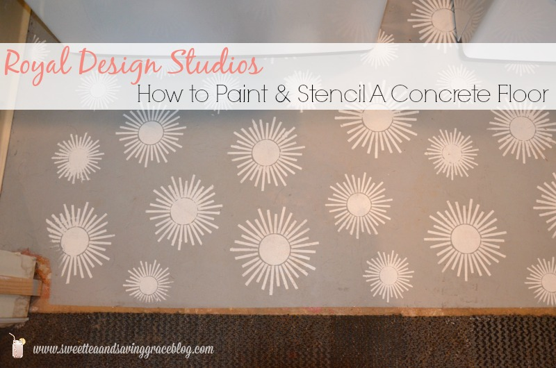 How to Stencil A Concrete Floor | Sweet Tea & Saving Grace