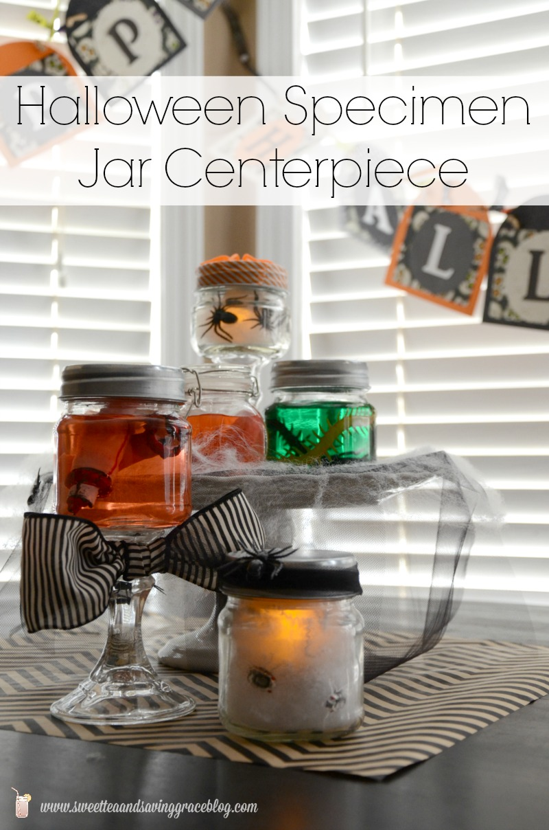 Halloween Specimen Jar Centerpiece  |  Sweet Tea & Saving Grace