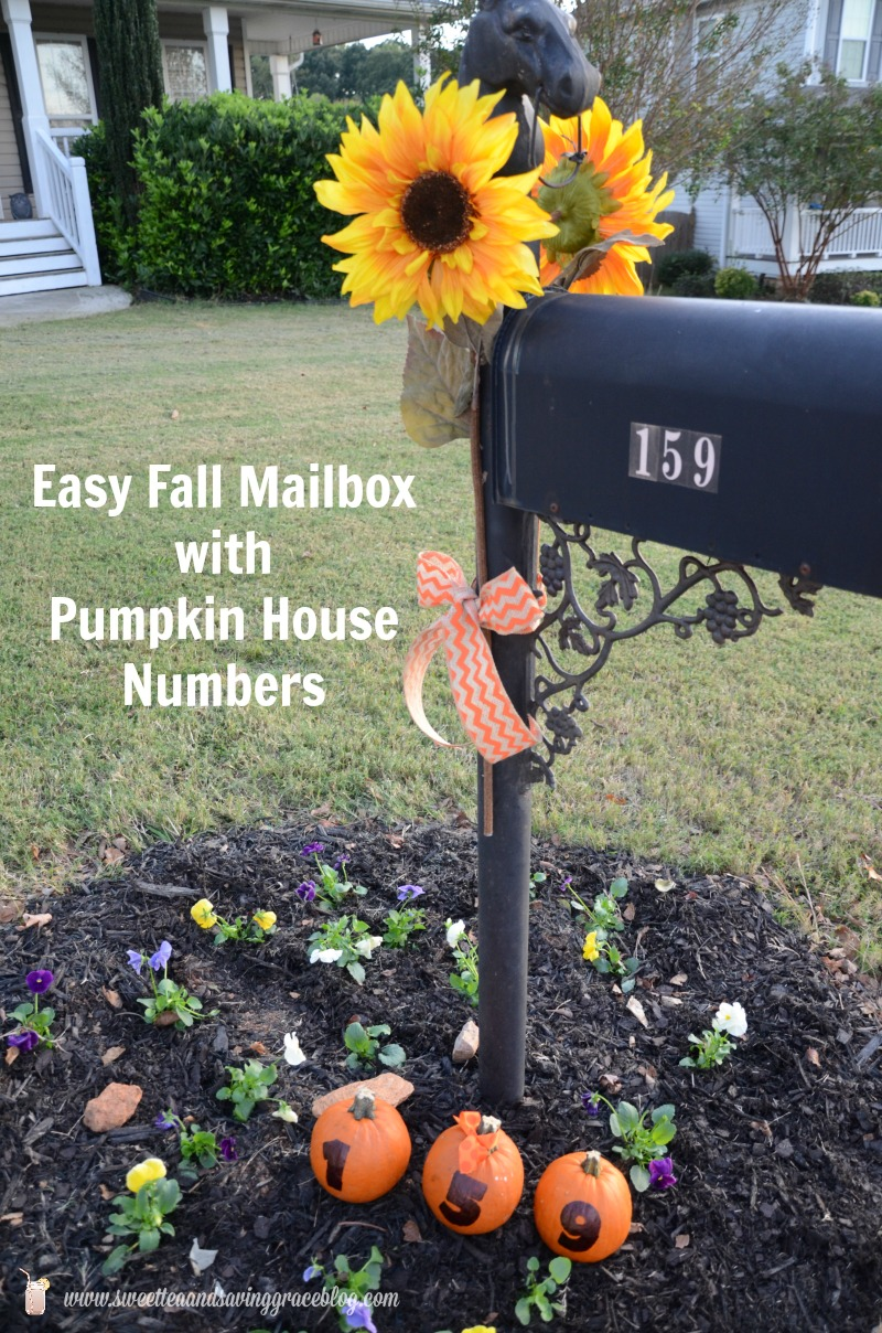 Easy Fall Mailbox Decor  |  Sweet Tea & Saving Grace