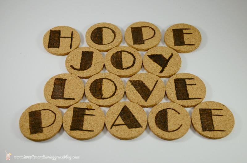 Wood Etched Glitter Cork Garland | Sweet Tea & Saving Grace