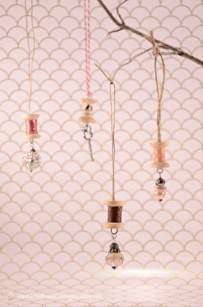 Sparkle Spool Ornaments  |  Sweet Tea & Saving Grace
