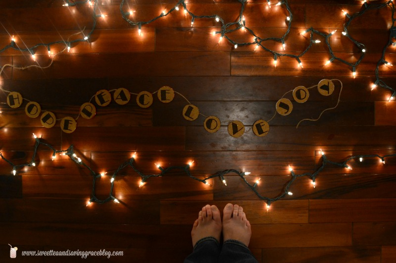 DIY Wood Etched Glitter Garland