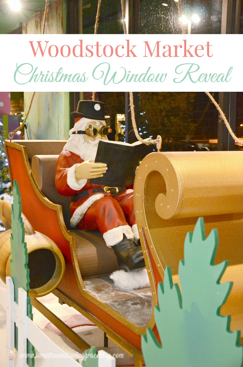 Christmas Window Reveal  |  Sweet Tea & Saving Grace