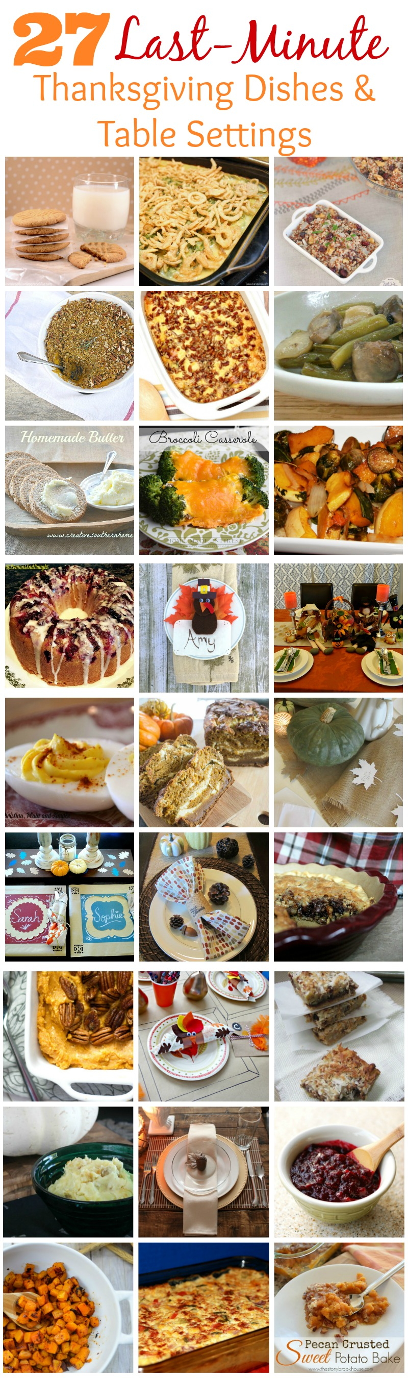27 Last Minute Thanksgiving Dishes & Table Settings  |  Sweet Tea & Saving Grace
