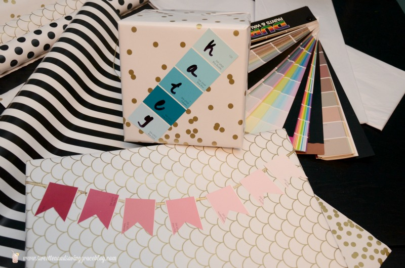 Paint Chip Gift Wrap  |  Sweet Tea & Saving Grace