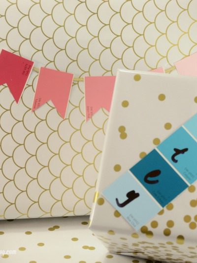 Paint Chip Gift Wrap 2 Ways