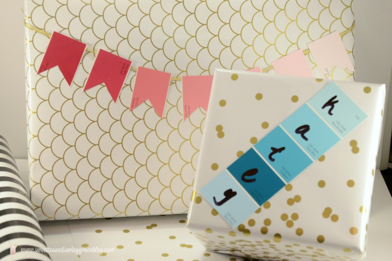Paint Chip Gift Wrap | Sweet Tea & Saving Grace