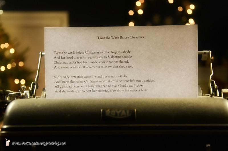 Twas the Week Before Christmas | Sweet Tea & Saving Grace