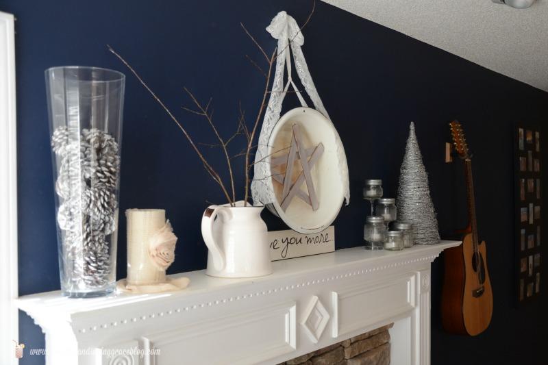 DIY Winter White Mantle | Sweet Tea & Saving Grace