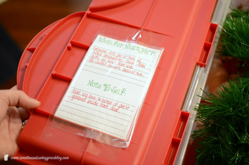 How to Organize and Store Holiday Decor | Sweet Tea & Saving Grace