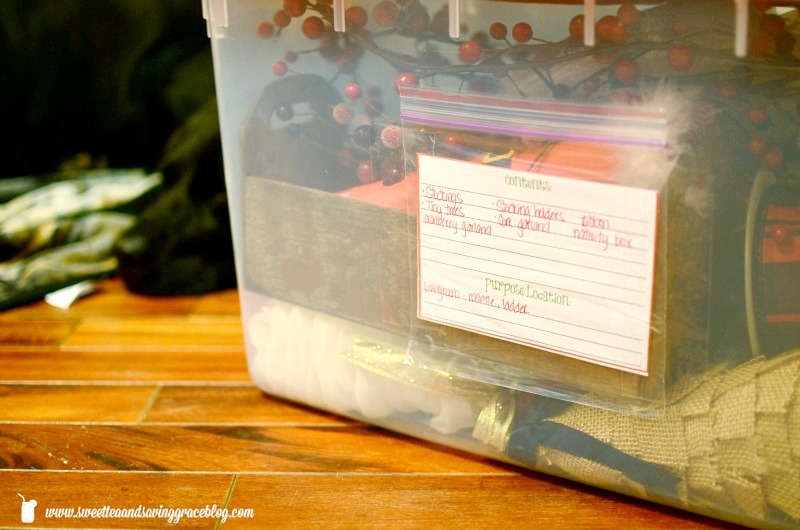 How to Organize and Store Holiday Decor   Sweet Tea & Saving Grace
