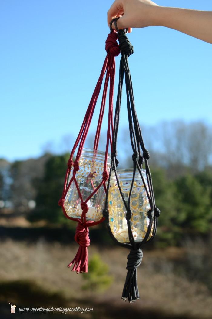 DIY Boho Candle Lanterns  |  Sweet Tea & Saving Grace
