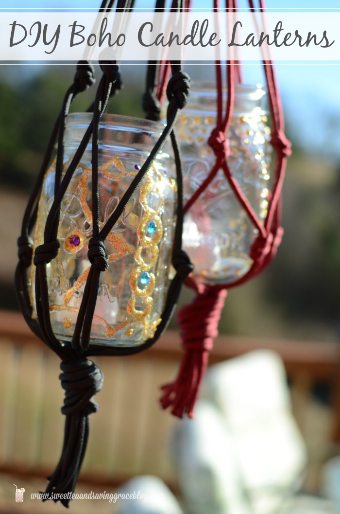 DIY Boho Candle Lanterns  |  Sweet Tea & Saving Grace