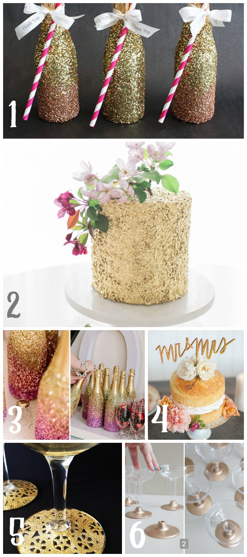 Gold & Glamorous Wedding Food and Drink  |  Sweet Tea & Saving Grace