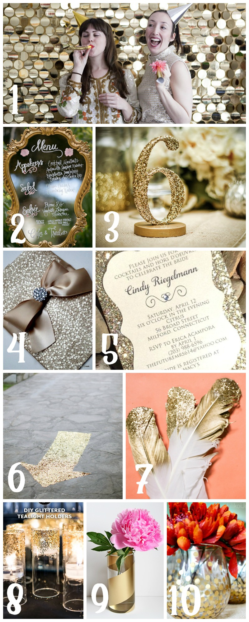Gold & Glamorous Wedding Decor  |  Sweet Tea & Saving Grace