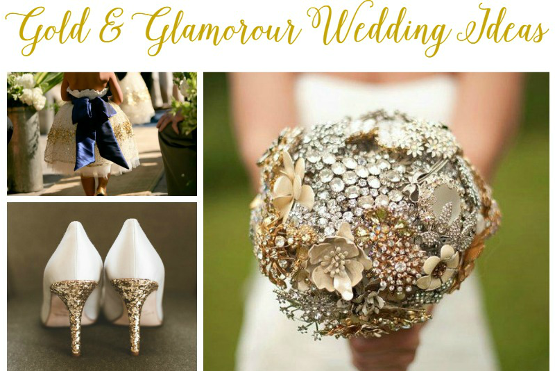 Gold & Glamorous Wedding Ideas