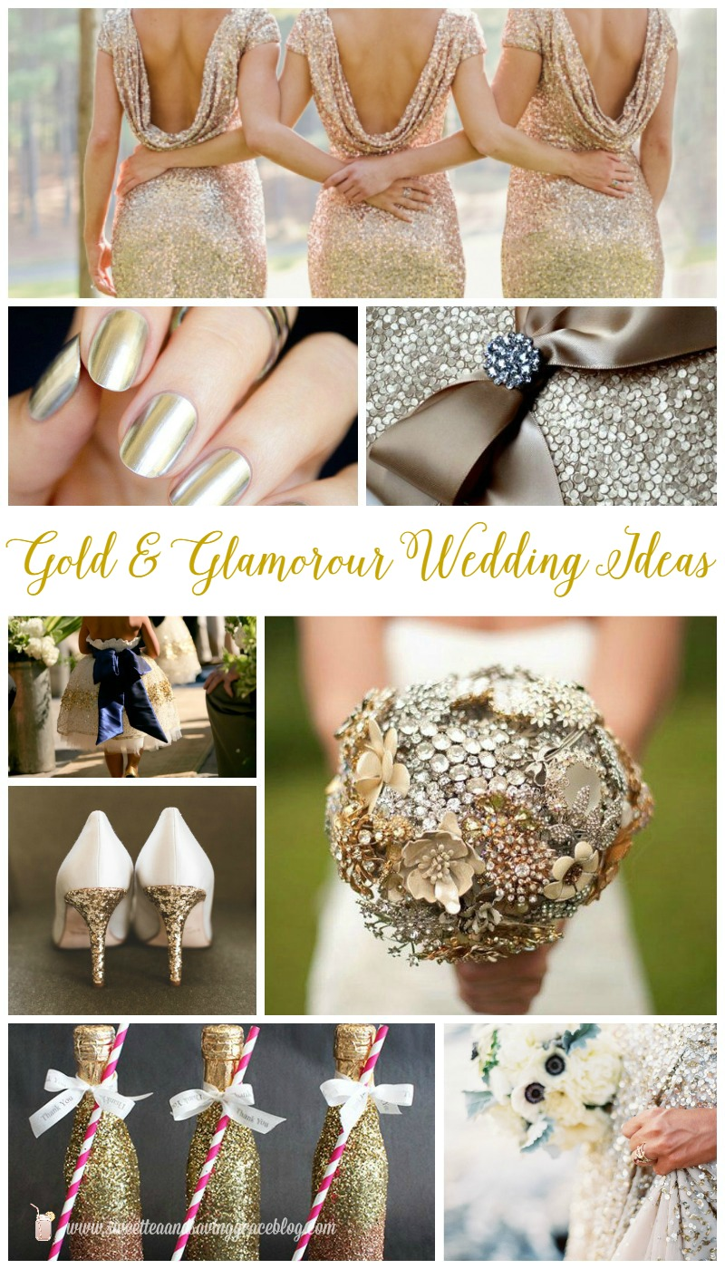 Gold & Glamorous Wedding Ideas  |  Sweet Tea & Saving Grace