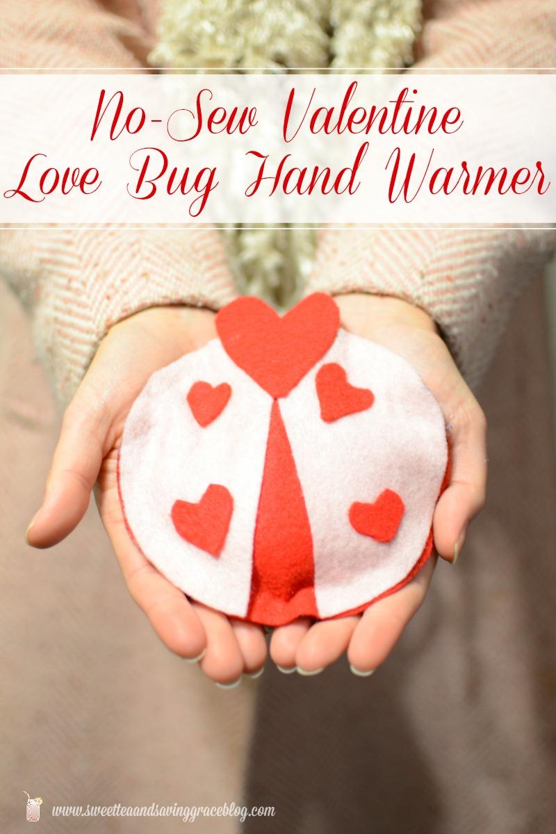 No Sew Valentine Love Bug Hand Warmer  |  Sweet Tea & Saving Grace