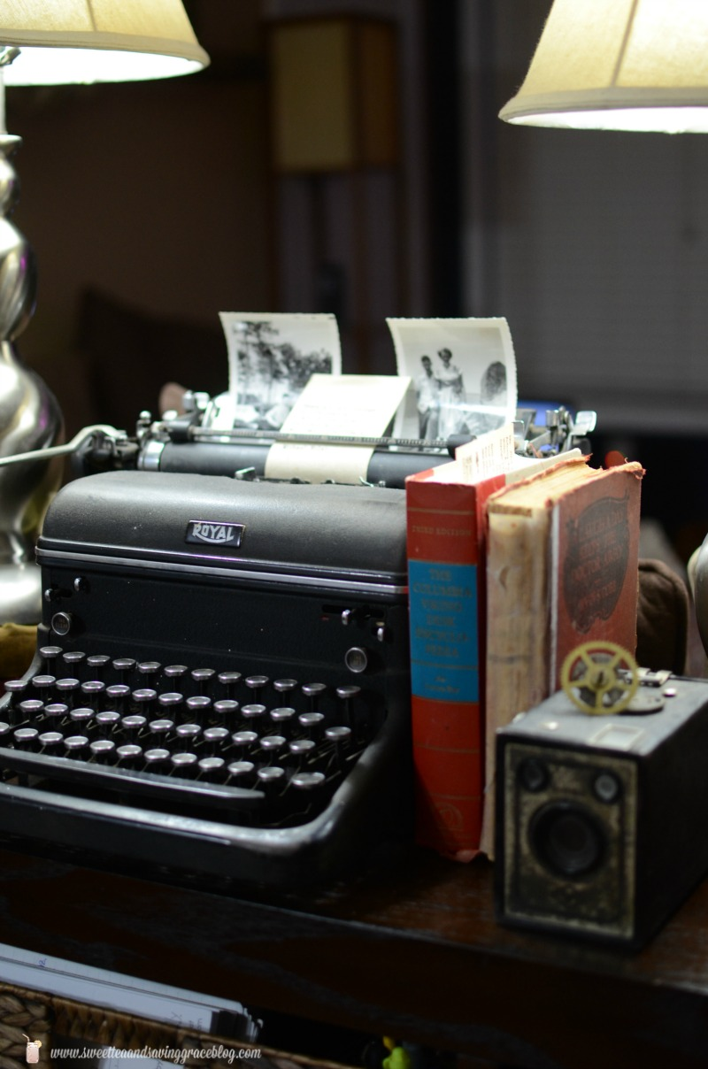 Vintage Typewriter Vignette | Sweet Tea & Saving Grace