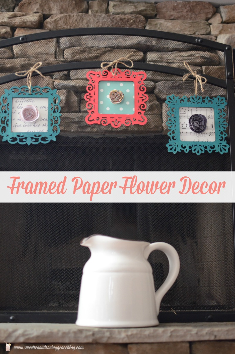 DIY Framed Paper Flower Decor | Sweet Tea & Saving Grace