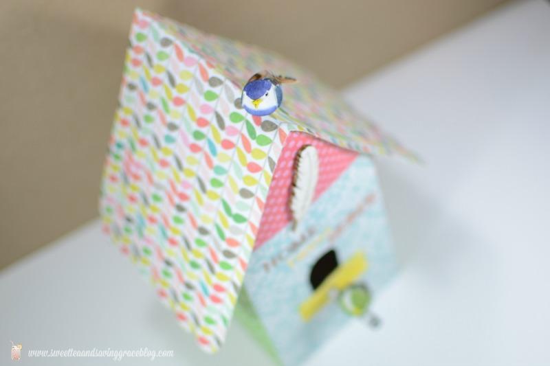 DIY Cardstock Bird House | Sweet Tea & Saving Grace