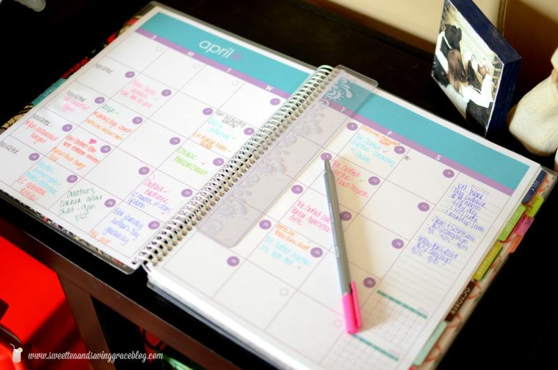 Erin Condren Deluxe Notebook Review Sweet Tea & Saving Grace