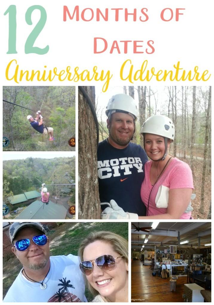 12 Months of Dates Anniversary Adventure