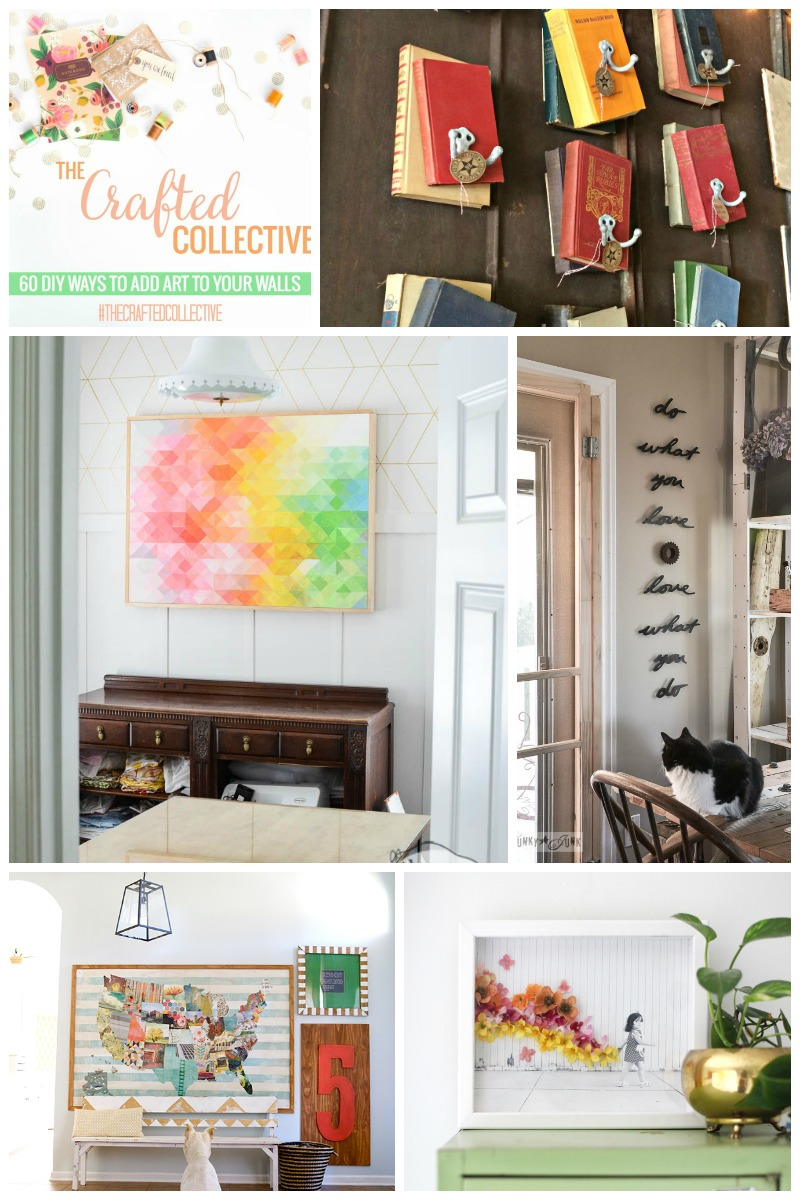 60 DIY Ways to Add Art to Your Walls #TheCraftedCollective  |  Sweet Tea & Saving Grace