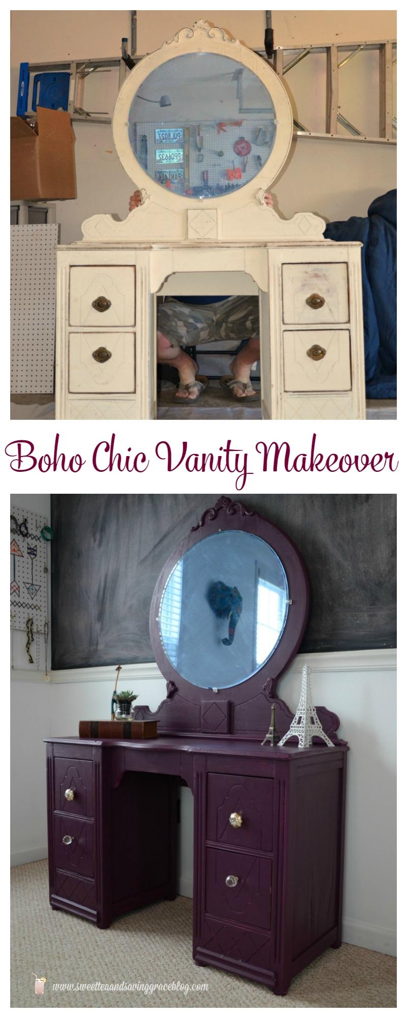 Boho Chic Vanity Makeover