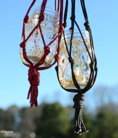 DIY Macrame Candle Lanterns