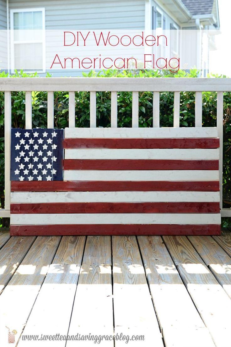 f39d660eb321 DIY Wooden American Flag · 60 DIY Red