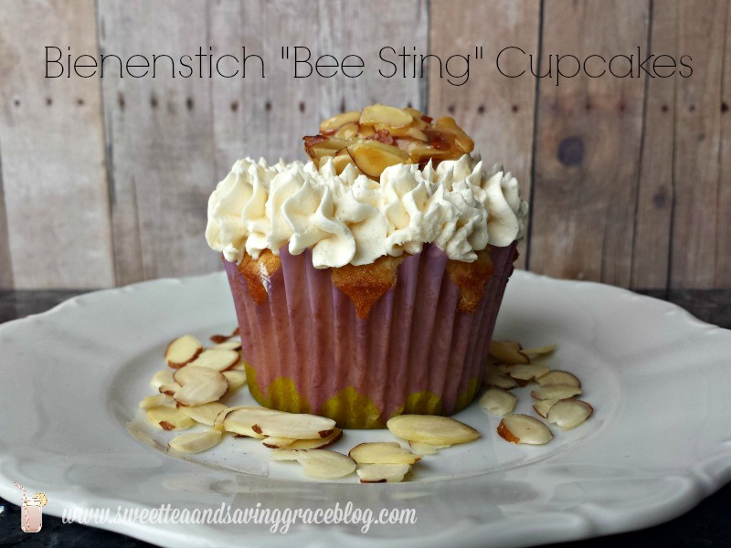 Bienenstich Bee Sting Cupcakes | Sweet Tea & Saving Grace