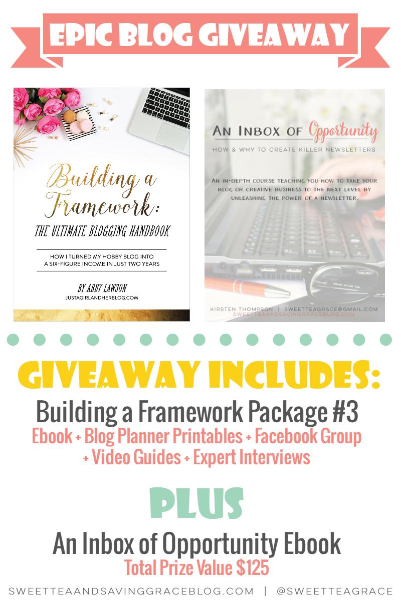Building a Framework Giveaway