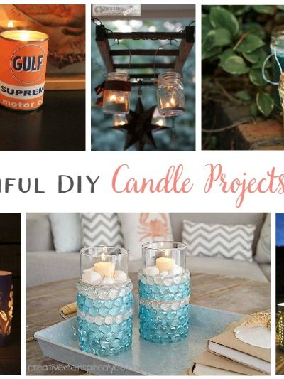 17 Beautiful DIY Candle Projects