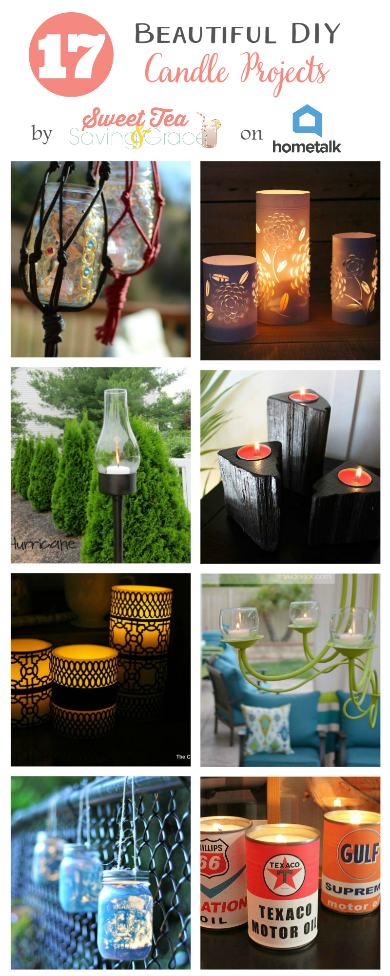 17 Beautiful DIY Candle Projects  |  Sweet Tea & Saving Grace