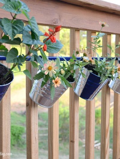 DIY Deck Hanging Pot Rod