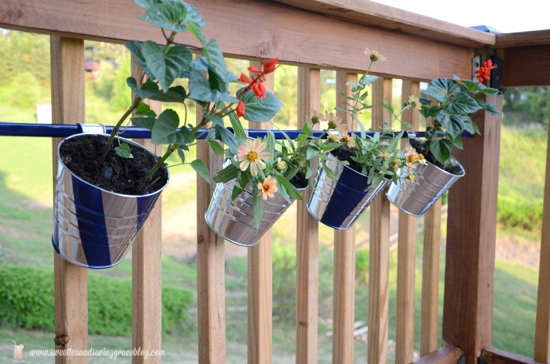 DIY Deck Hanging Pot Rod | Sweet Tea & Saving Grace