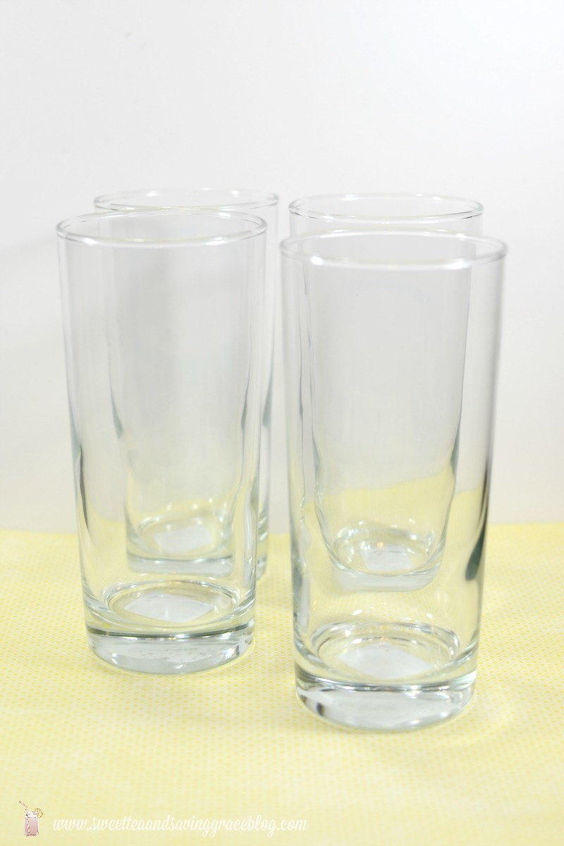 Etched Glass Summer Drinkware Set |  Sweet Tea & Saving Grace