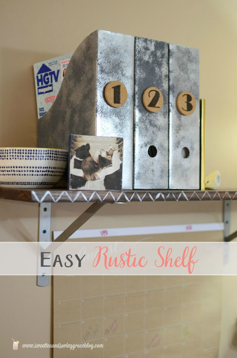 Easy Rustic Shelf withPainted Accent | Sweet Tea & Saving Grace