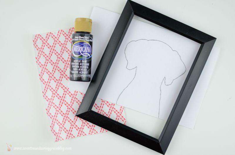 Simple Dog Silhouette Portrait | Sweet Tea & Saving Grace