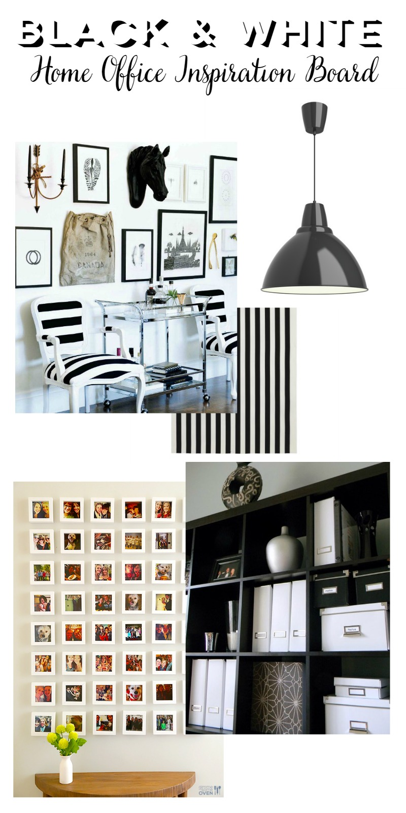 Black White Home Office Inspiration