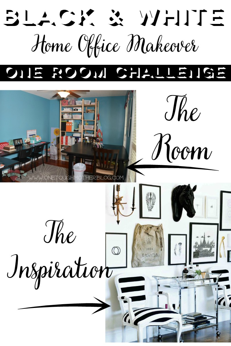 hey home office overhalul. One Room Challenge Black And White Home Office Makeover Week 1 Hey Overhalul