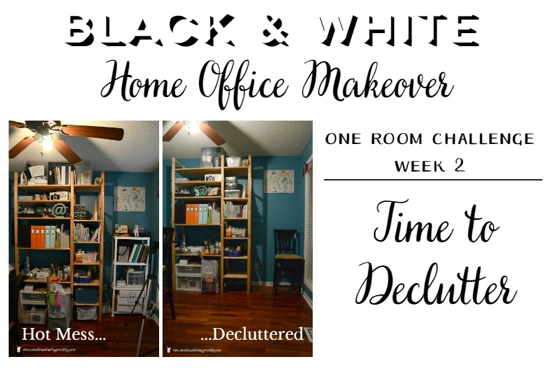 One Room Challenge: Decluttering the Home Office