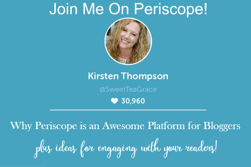Join Me For #SweetTeaScopes on Periscope