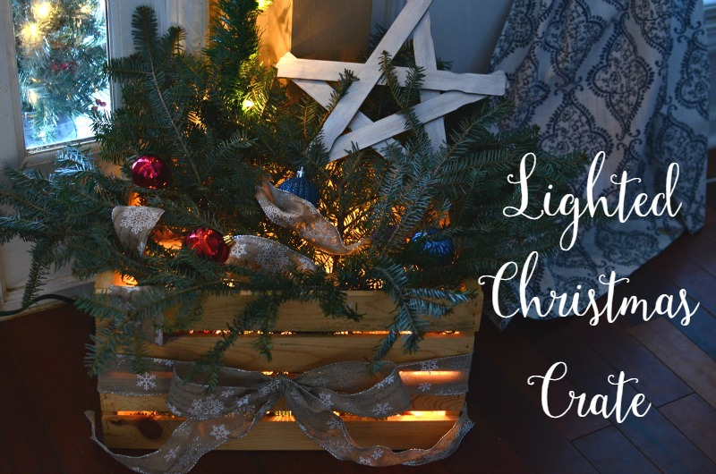 Simple Lighted Christmas Crate