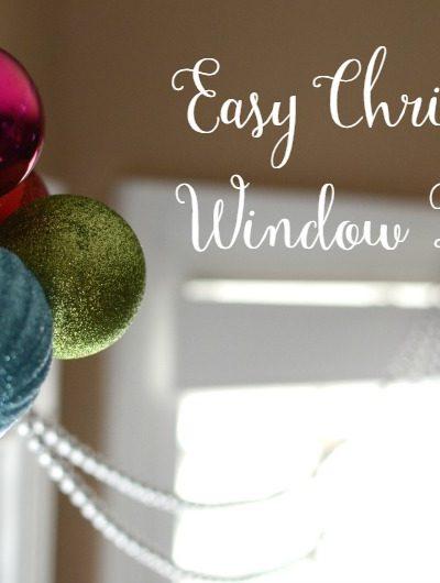Quick & Easy Christmas Window Decor