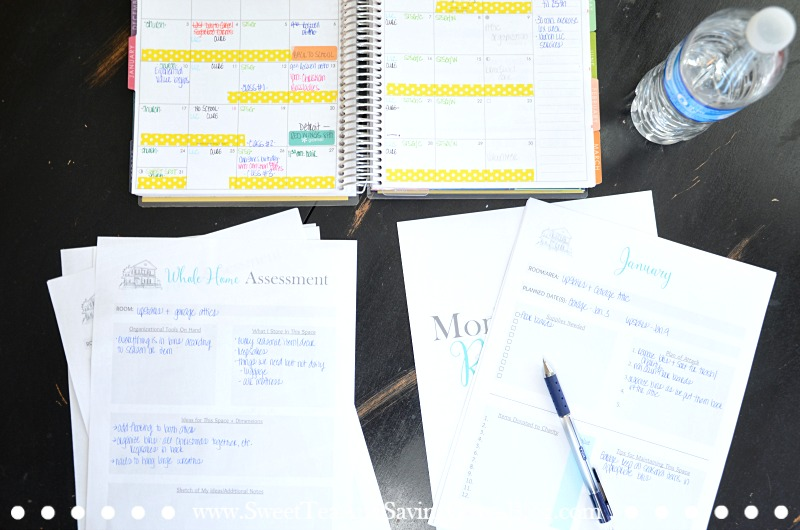 Don't let one more year pass by without finally tackling the clutter in your home! This Whole Home Organization Plan provides tips & worksheets to help you tackle your whole home at a realistic pace - in one year! Let's do this!