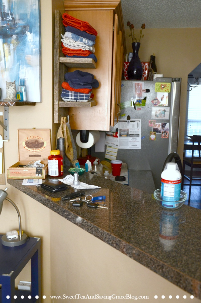 Counter clutter before